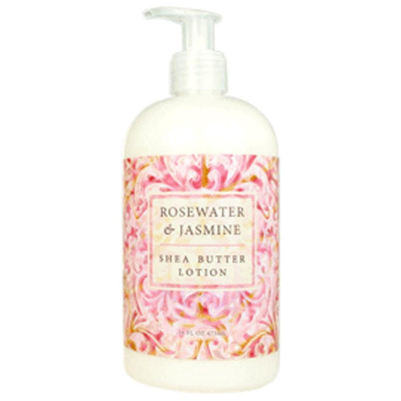 Greenwich Bay Trading Co. Shea Butter Lotion, 16 Ounce, Rosewater & Jasmine