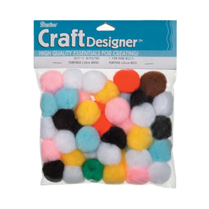 Darice Craft Pom Poms 1 inch Assorted Colors and Sizes
