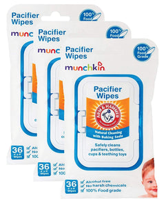 Munchkin Arm and Hammer Pacifier Wipes, White, 108 Count