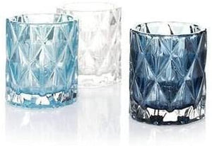 Yankee Candle Shades of Blue Fractal Set of 3 Votive Holder