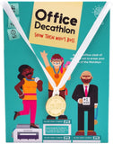 Office Decathlon Game by Gray Matters Games, Office Game for Coworkers, Olympic-Inspired Team Building Game for Work with Fun Ice Breaker Activities
