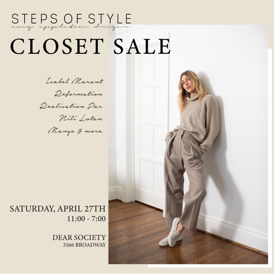 Steps of Style Closet Sale | Saturday, April 27th