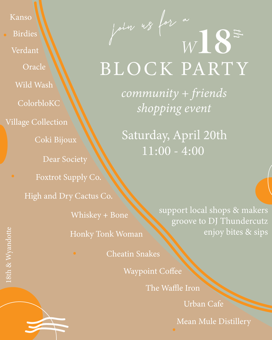 W. 18th St. Block Party | A Community & Friends Shopping Event