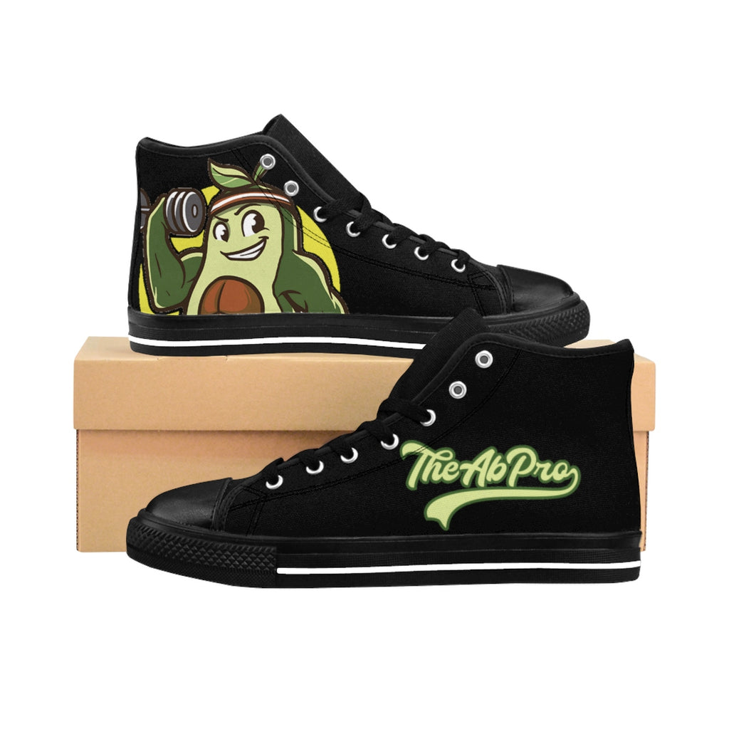 "Avocado Men's High-top Sneakers - Fit Family Apparel by Erick ""The Ab Pro"""