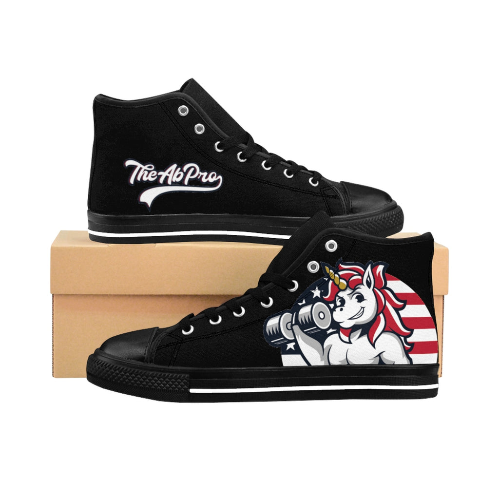 "American Unicorn Men's High-top Sneakers The Ab Pro - Fit Family Apparel by Erick ""The Ab Pro"""