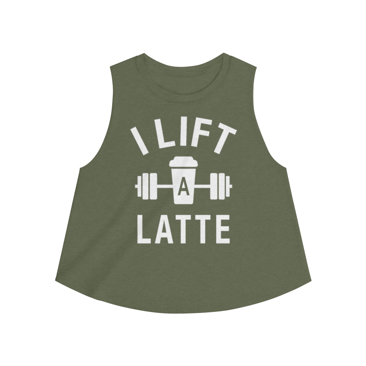 "I Lift A Latte Women's Crop top - Fit Family Apparel by Erick ""The Ab Pro"""