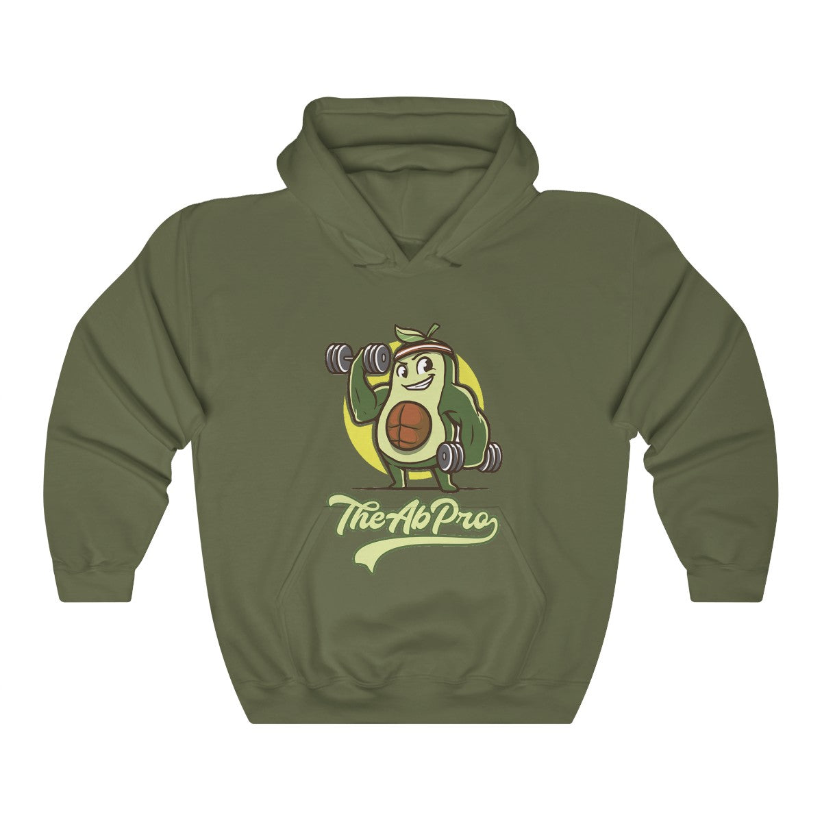 "Avocado Unisex Heavy Blend™ Hooded Sweatshirt - Fit Family Apparel by Erick ""The Ab Pro"""