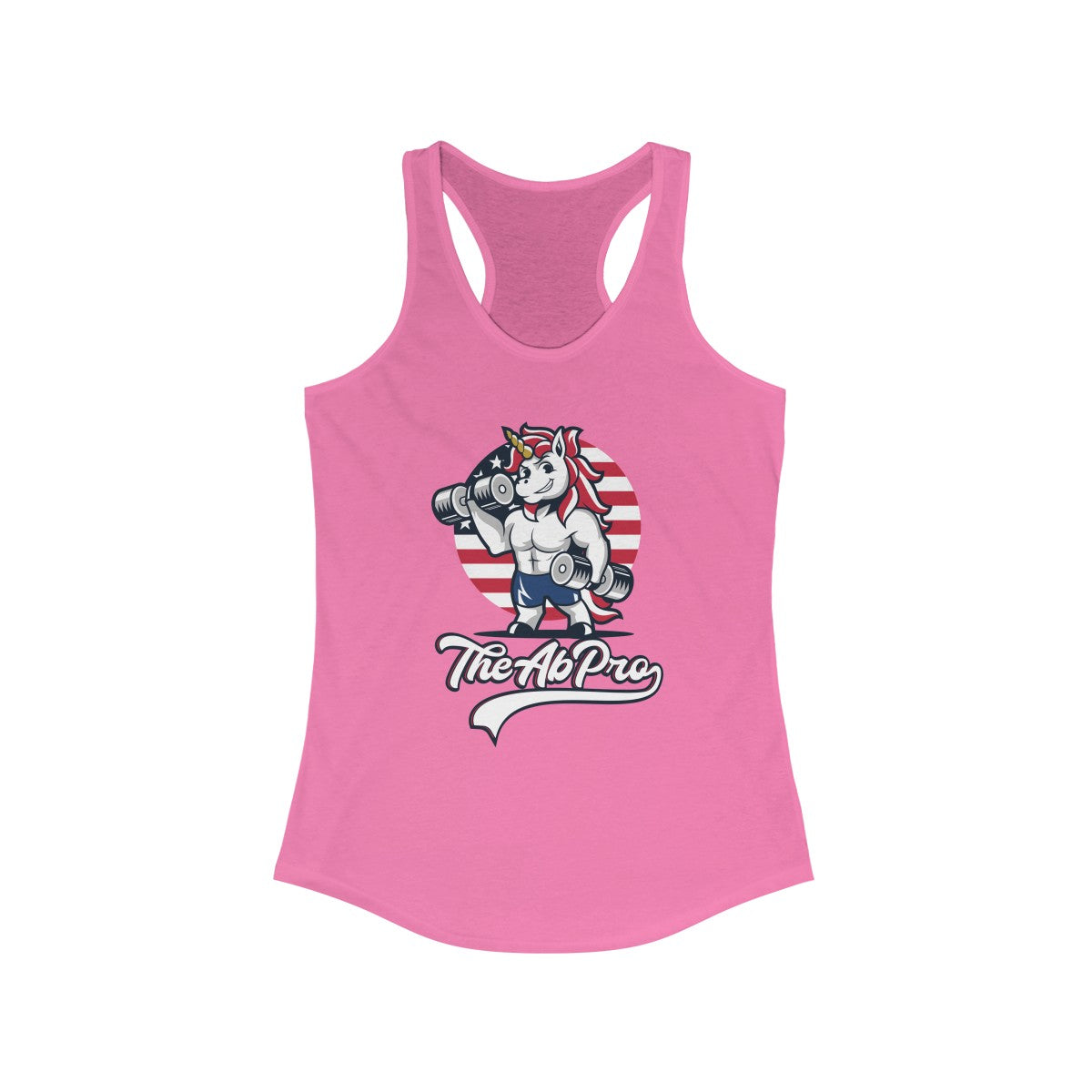 "American Unicorn Women's Ideal Racerback Tank The Ab Pro - Fit Family Apparel by Erick ""The Ab Pro"""