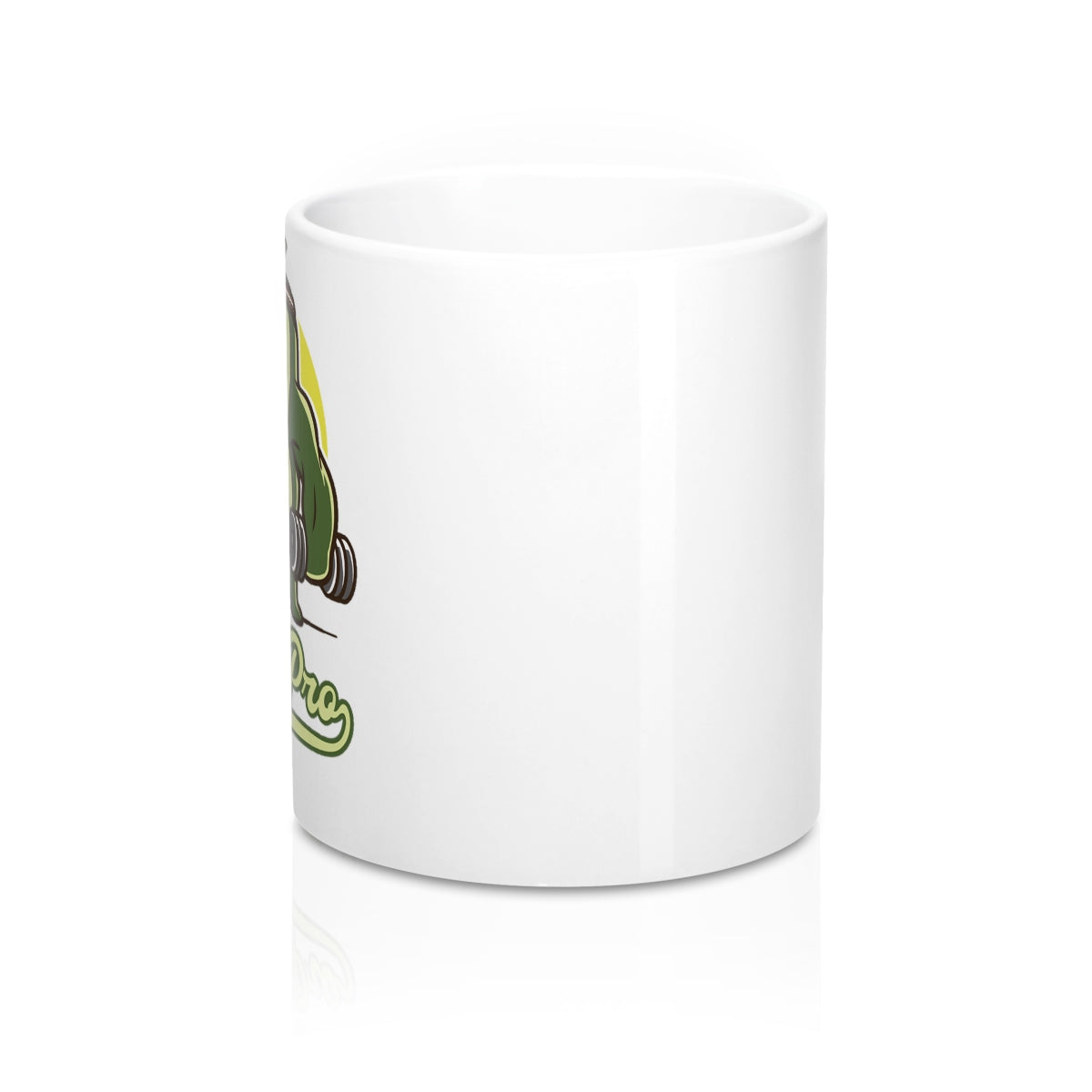 "Avocado Mug 11oz - Fit Family Apparel by Erick ""The Ab Pro"""