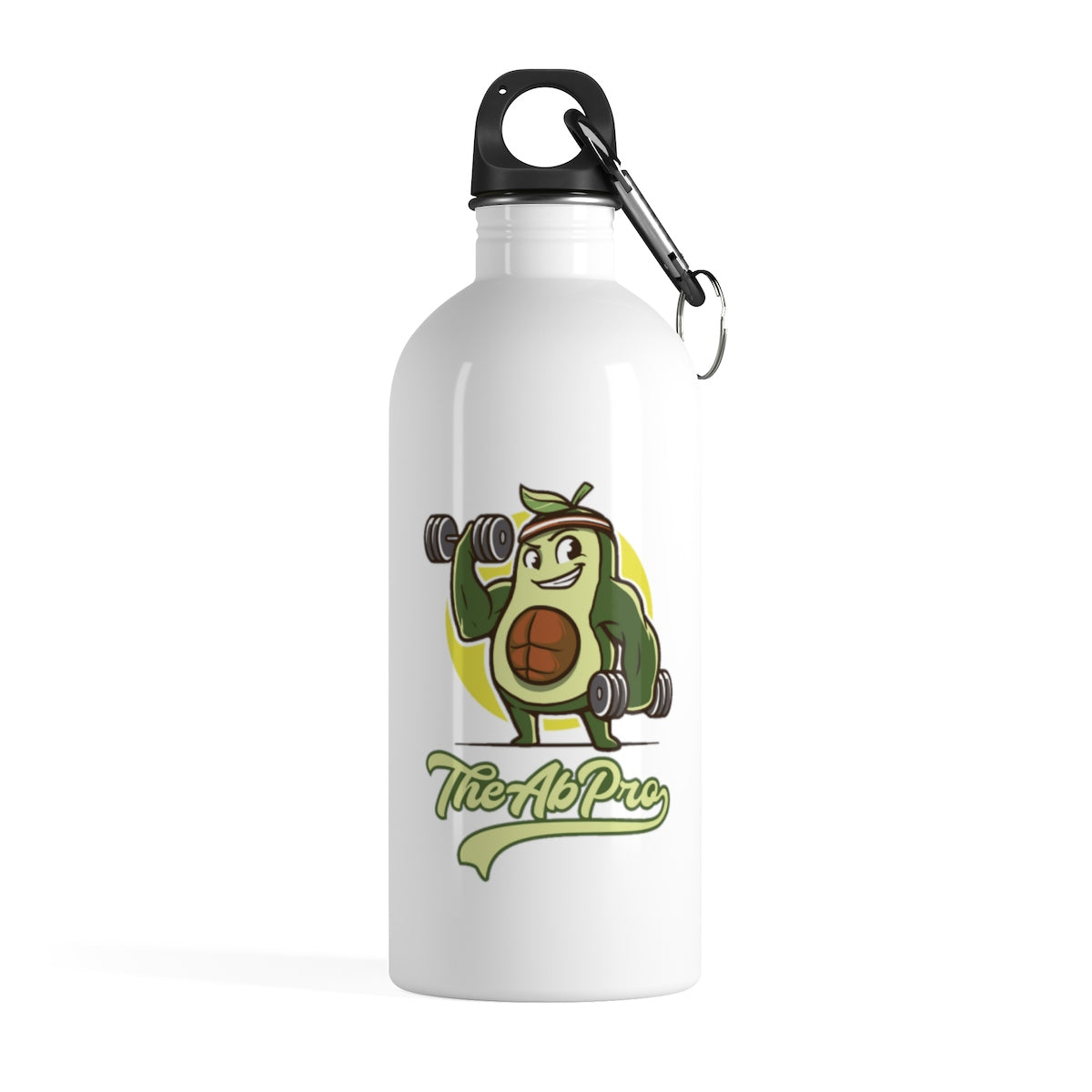 "Avocado Stainless Steel Water Bottle - Fit Family Apparel by Erick ""The Ab Pro"""