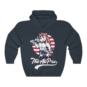 "American Unicorn Unisex Heavy Blend™ Hooded Sweatshirt The Ab Pro - Fit Family Apparel by Erick ""The Ab Pro"""