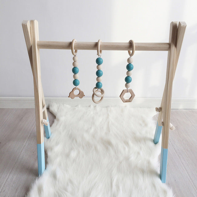 Wooden baby play gym -