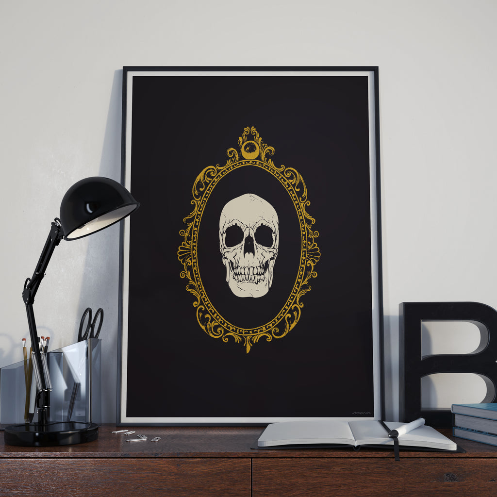 Framed Out Skull