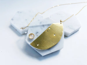 layering necklace, lucite necklace, moonstone necklace, constellation necklace, phoenix necklace, new york fashion week, NYFW