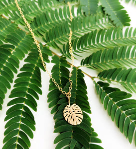Kauai Monstera Necklace