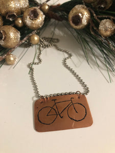 Stocking Stuffer - Bike Necklace