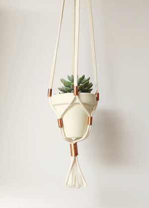 Cotton+Copper Hanging Planters