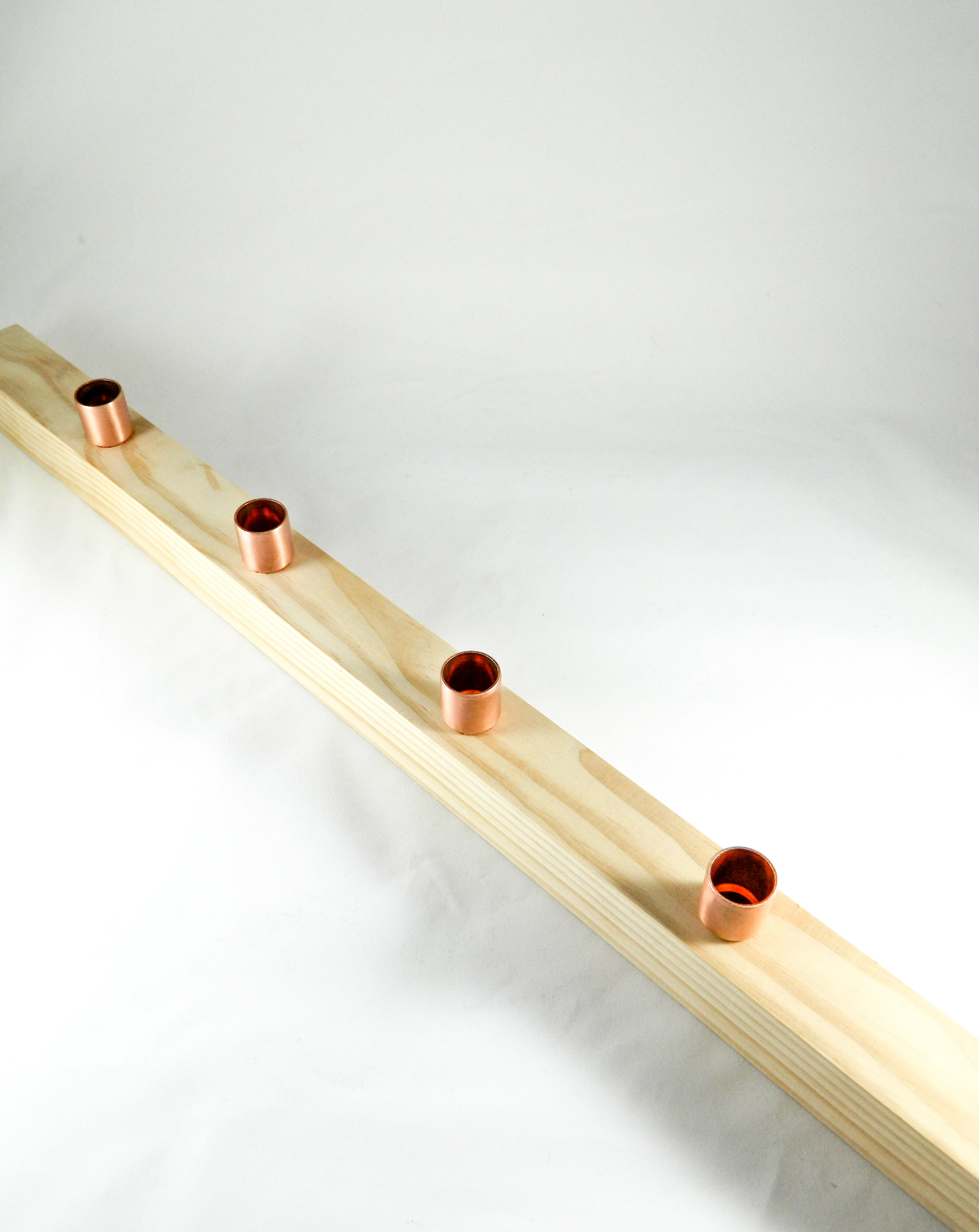 Wood Candle Runner