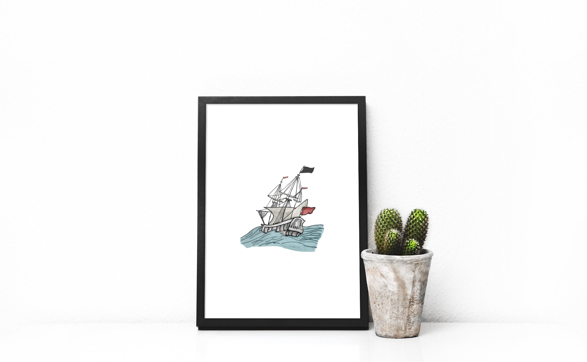 Sailing the Oceans Print