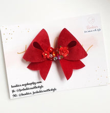 Load image into Gallery viewer, Red Velvet Bow