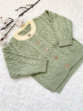 Load image into Gallery viewer, Aspen Cable Knit Cardi - Dusty Green