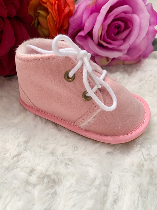 Suede Pink Boots