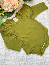 Load image into Gallery viewer, Flutter Bodysuit Olive