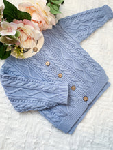 Load image into Gallery viewer, Aspen Cable Knit Cardi - Sky Blue