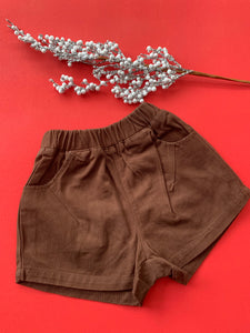 Brown Denim shorts