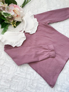 Jade Collar Blouse - Violet