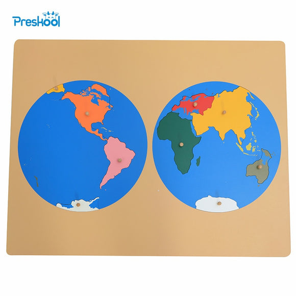 FLAT PUZZLE MAP OF THE WORLD