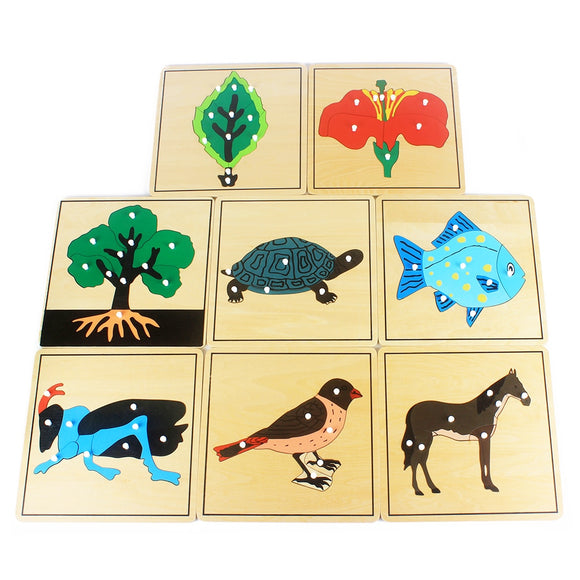 BEAUTIFUL WOODEN PUZZLES * WELL MADE COLORFUL ANIMALS AND PLANTS