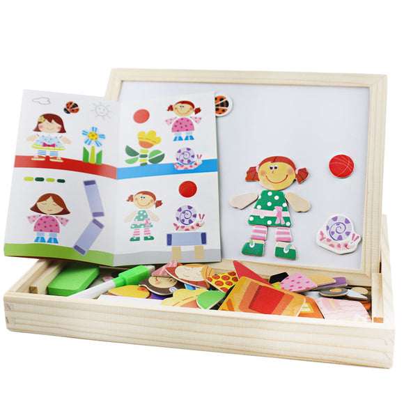 MAGNETIC BOARD AND OBJECTS * CREATE FUN SCENES *