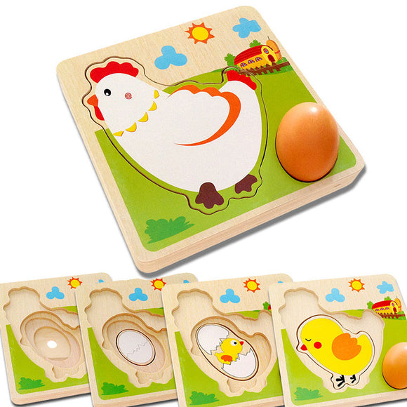 MULTI LAYER WOODEN PUZZLE * LIFE CYCLE OF A CHICKEN