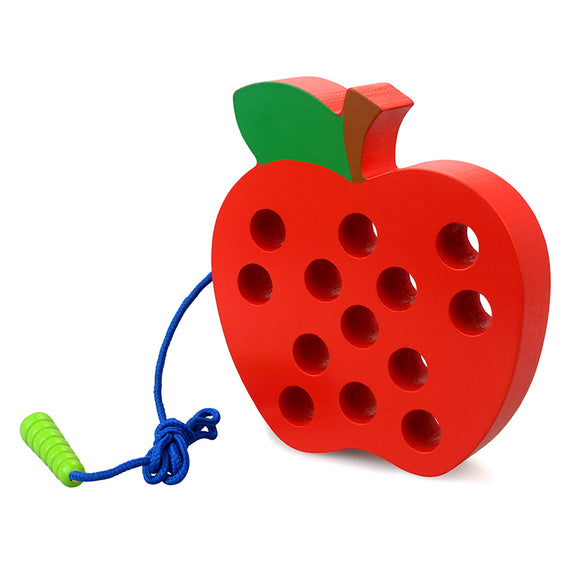 3D APPLE LACING ACTIVITY FOR YOUNG CHILDREN