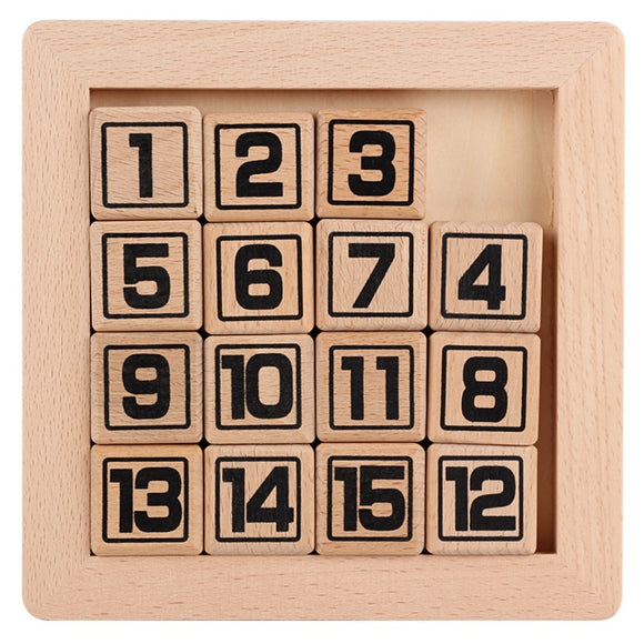 LEARN NUMBERS 1 TO 15 * MATH WOODEN PUZZLE  *