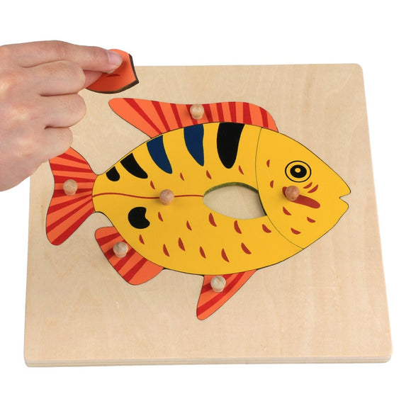 FISH PUZZLE WITH KNOBS