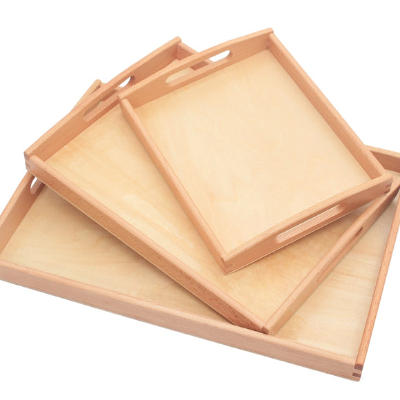 WOODEN TRAYS * 3 SIZES