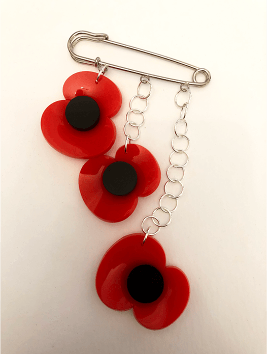 Poppy Brooch/ Kilt Pin