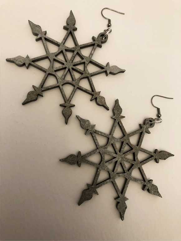 Snowflake Earrings XI