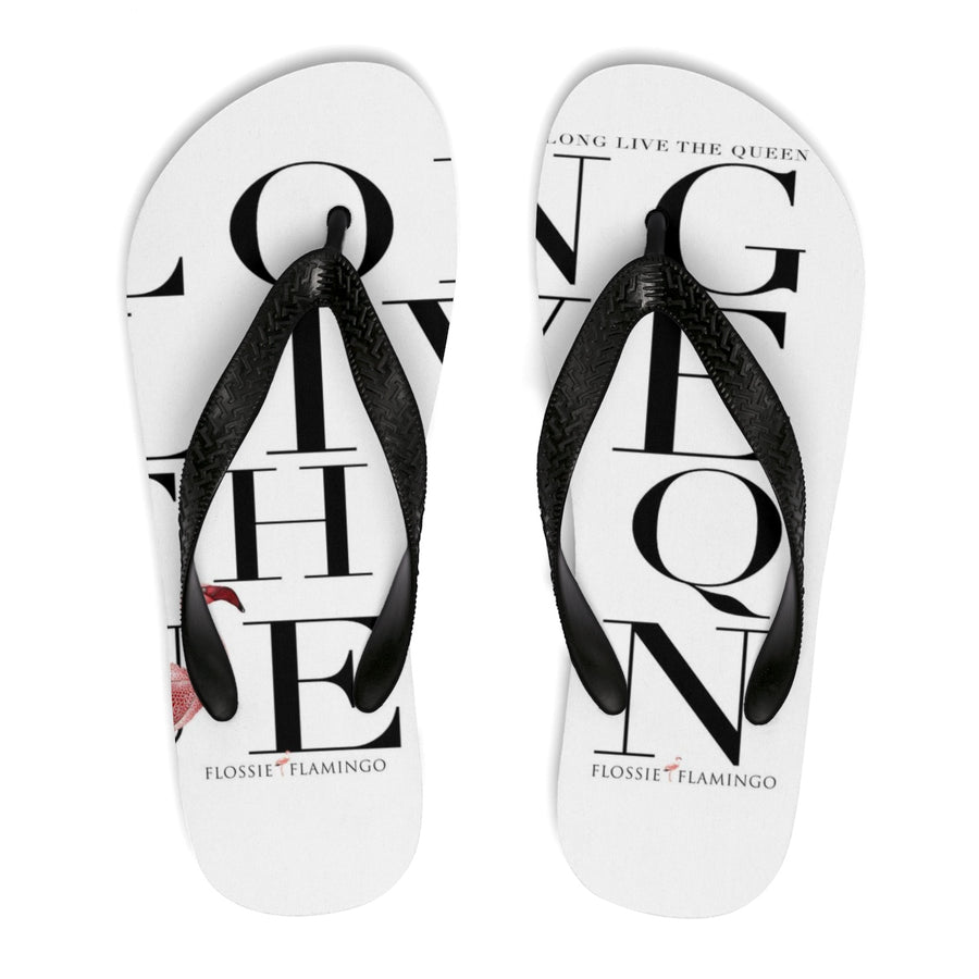 'Long Live The Queen' Flip-Flops