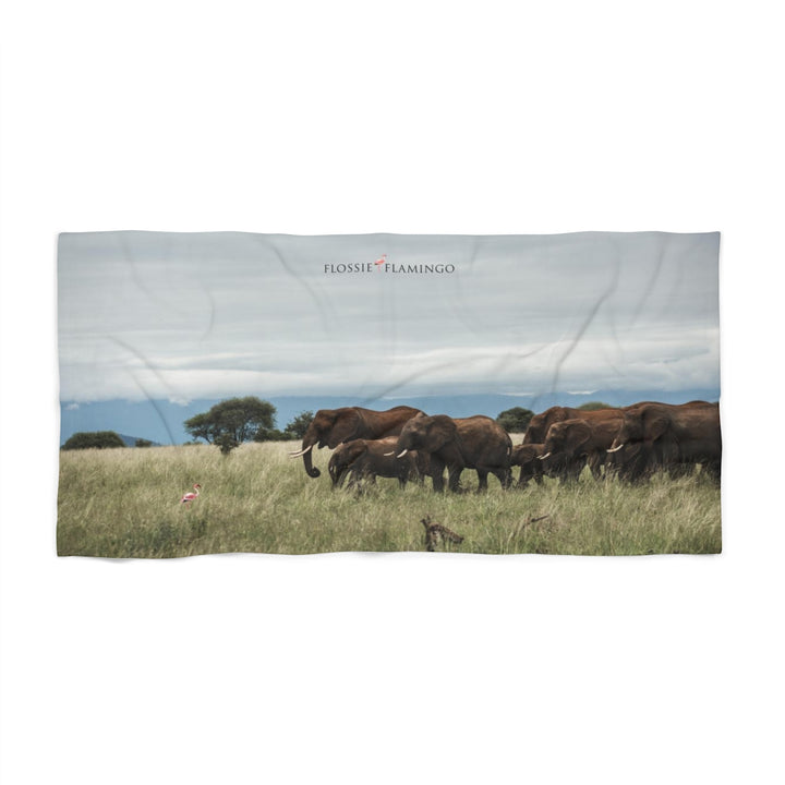 'A Family Outing' Beach Towel