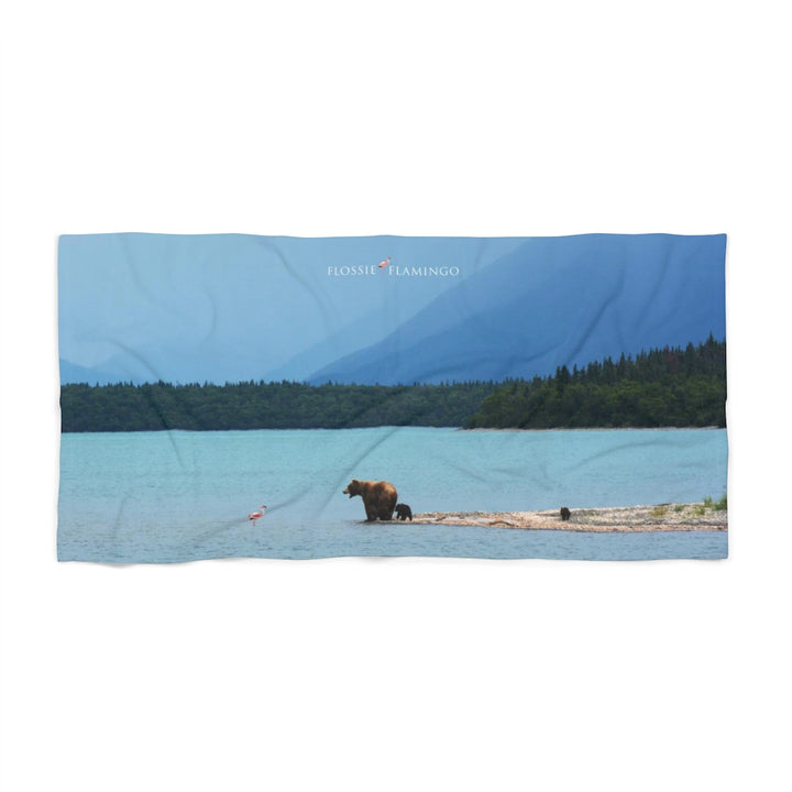 'Bear with me' Beach Towel
