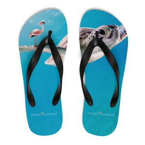 'Catch Waves Not Turtles' Flip-Flops