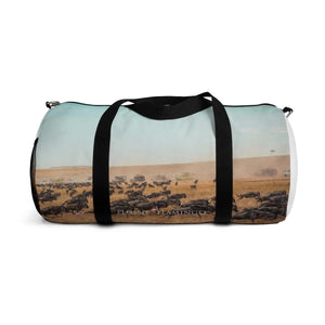 'The Wildebeest Stampede' Duffle Bag