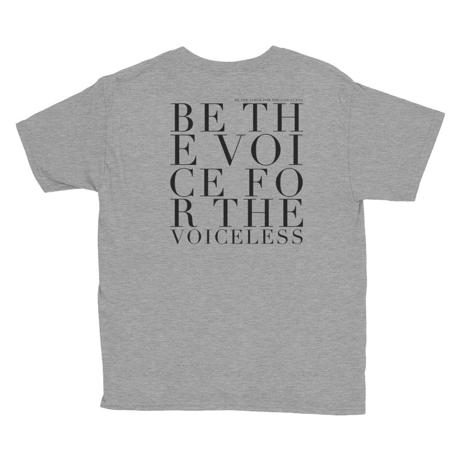'BE THE VOICE FOR THE VOICELESS' KIDS TEE