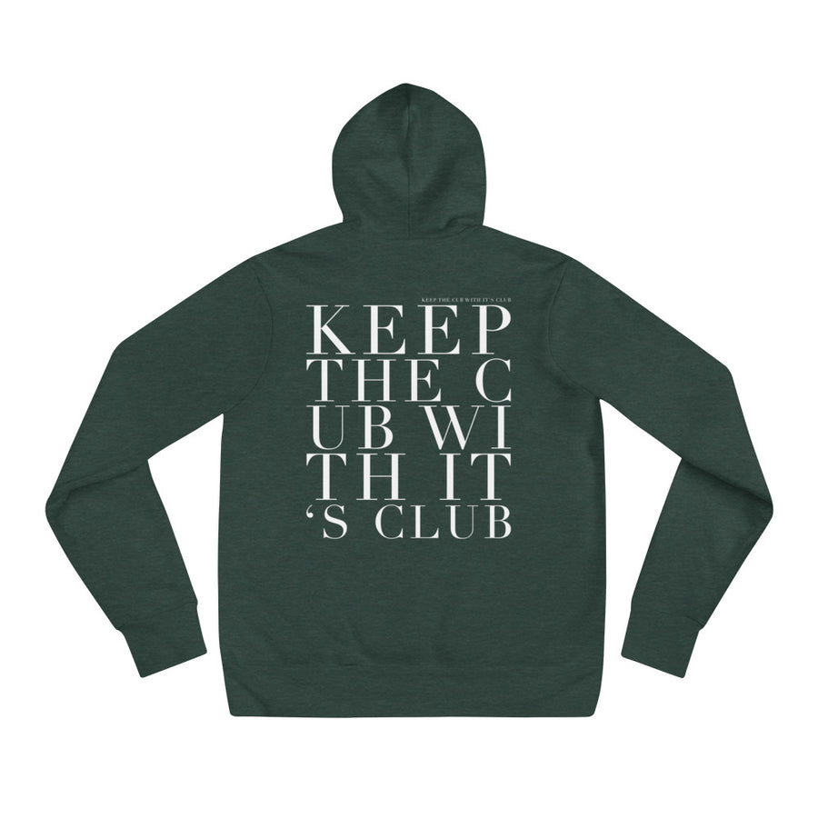 'KEEP THE CUB WITH ITS CLUB' UNISEX HOODIE