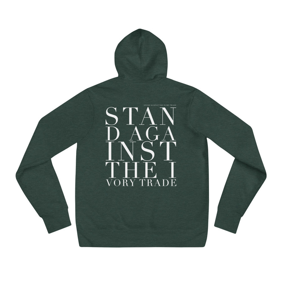 'STAND AGAINST THE IVORY TRADE'  UNISEX HOODIE