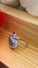 Load image into Gallery viewer, Fox Turquoise and sterling silver ring size 6