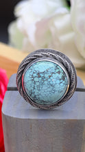 Load image into Gallery viewer, Skylakes Turquoise and sterling silver ring